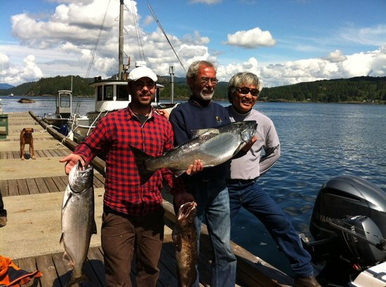 AG-Fish Enterprises Salmon Fishing Charters: My Dad, AG and I with our salmon