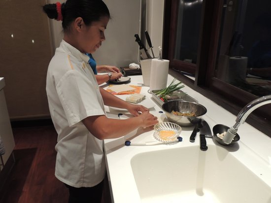 The Lotus Terraces: Chef Nam hard at work