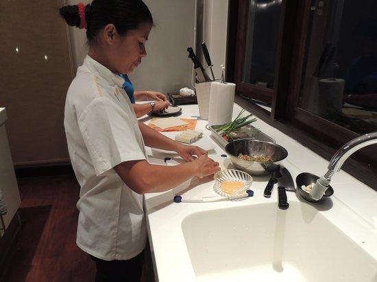 Lotus Samui: Chef Nam hard at work