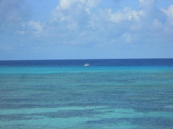 "Turks & Caicos National Museum: In the near distance is the ""blue wall"" where the water dives to over 6,000 feet deep."