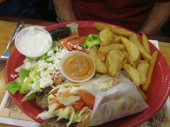 Alexis Diner: Sandwich wrap, fries and salad