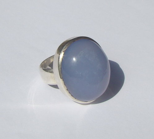Orchid House: favorite ring with chalcedony :)