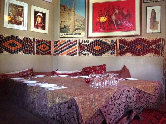 floor seating. Afghan Horsemen Restaurant: Floor Seating E