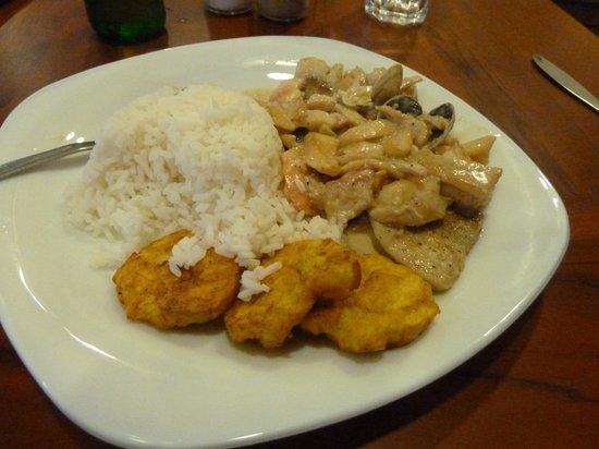 Typical Hotel Garzota Inn restaurant meal