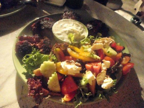 Taste of Home: Schnitzel with little spicy beef & special yogurt salad.