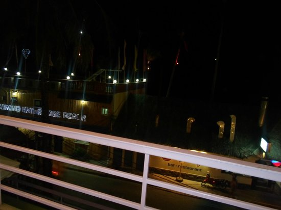 Shore Time Hotel Boracay: View from second floor at night