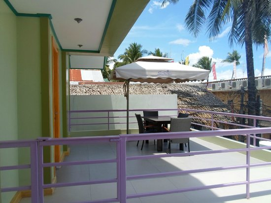 Shore Time Hotel Boracay: Veranda from another room - good for groups or family gathering