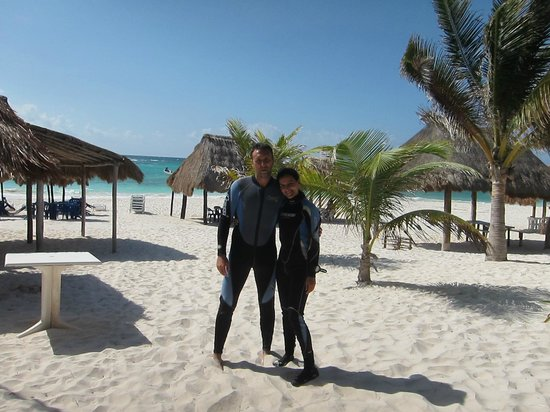 Bahia Divers: Playa xpu-ha y la parejita feliz