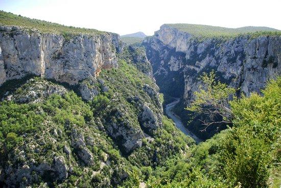 Route des Cretes La Palud: Zicht op de VerdonKloof