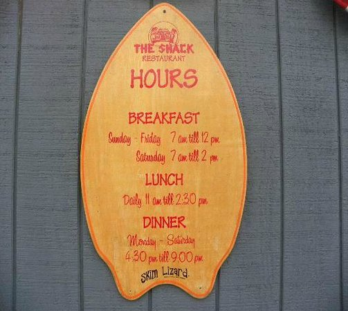 The Shack: Hours