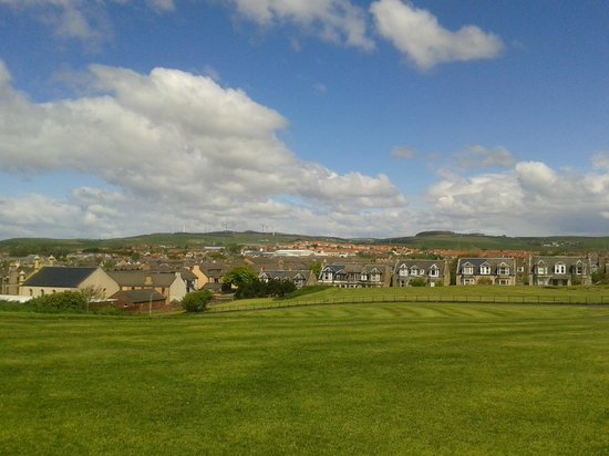 view of Ardrossan from Cannon Hill (Ardrossan Castle)