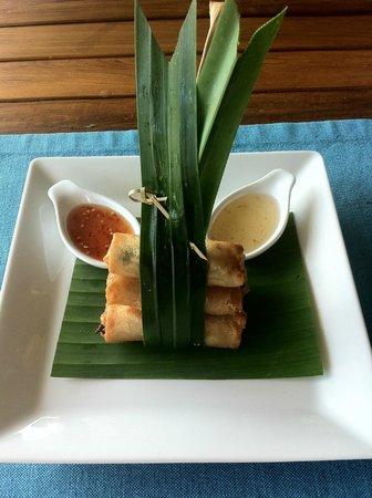 Spring rolls at restaurant