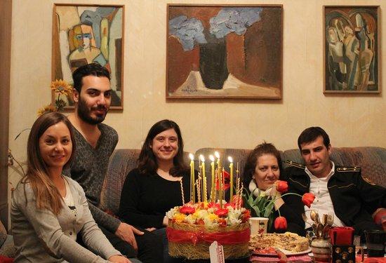 Anahit Stepanyan's B&B: celebrating Anahit's birthday in the living room