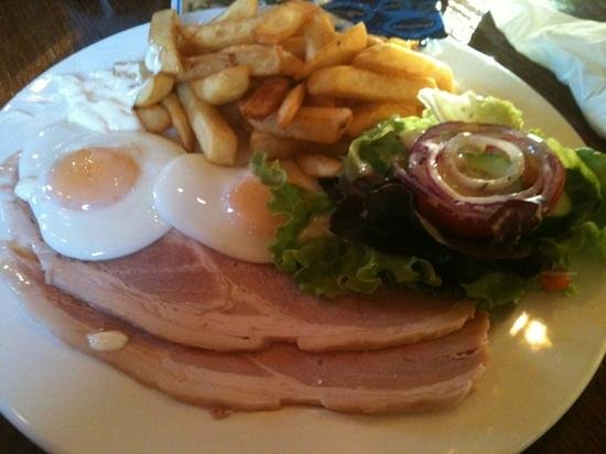 Radstock Hotel : Ham and eggs at the Radstock