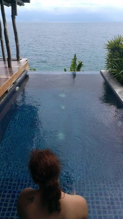 View Point Resort: picture of me in front of the pool of poolvilla is1.
