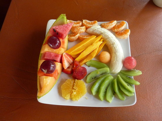 El Jardin: Delicious fruit plate
