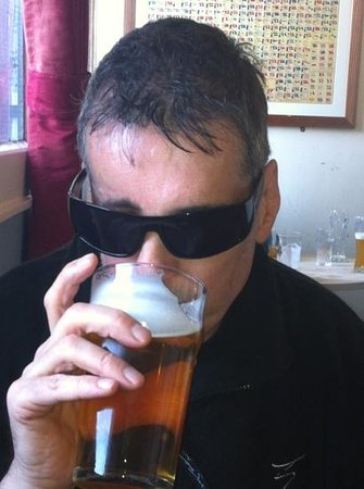 Baltic Fleet: My mate Andy enjoying a pint of Summer Ale. Andy says you can almost taste the sunshine.