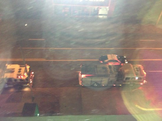 La Quinta Inn & Suites Downtown Conference Center: My view of one of 6 fire trucks outside our window at 2am