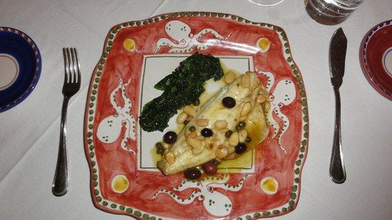 Donna Rosa il Ristorante: sea bass with spinach