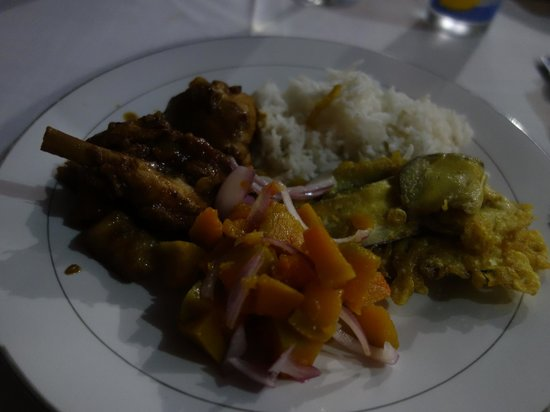 Buisson Guesthouse La Digue: Creole dish, yummy