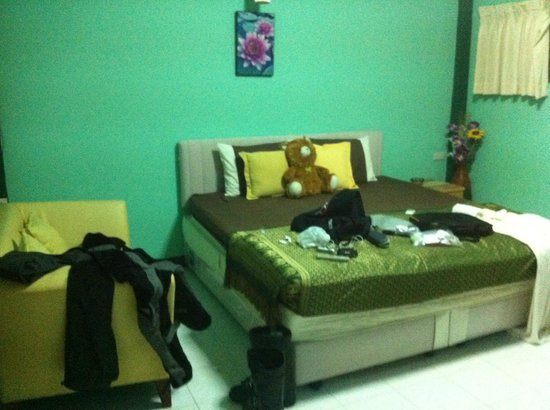 Benchana Guesthouse: room, sorry abt the mess