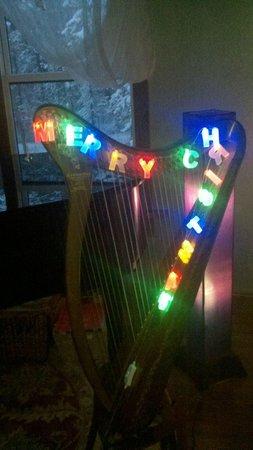 Whitefish TLC Bed and Breakfast Inn: Music room  harp
