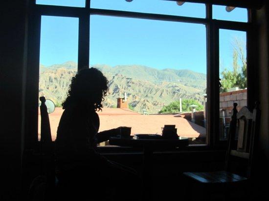 Antigua Tilcara B&B: Vista desde el desayunador