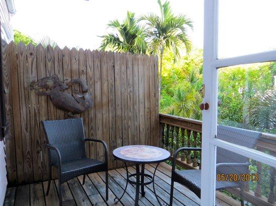 Key West Bed and Breakfast: Balcony