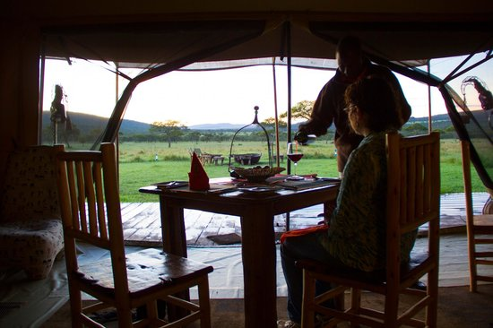 Asanja Africa : Late afternoon view of the grounds from the dining room