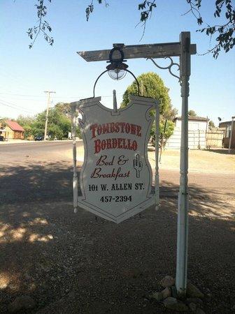 Tombstone Bordello : thier sign