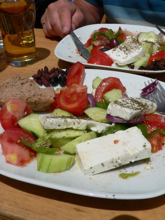 Cafe Yannis Place: Half way through my Greek Salad...