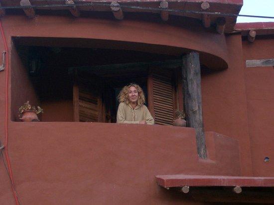 Antigua Tilcara B&B: En el Balcón de la Habitación Superior