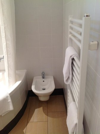 Hotel SPIESS & SPIESS Appartement-Pension: Bidet and towel dryer.