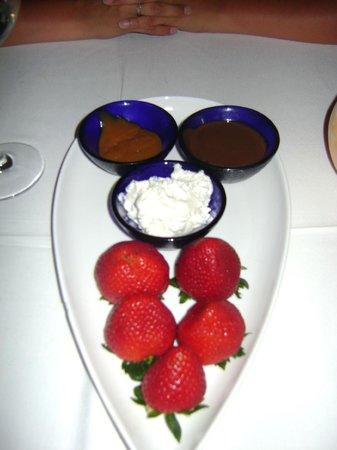 Temptation: strawberry dessert