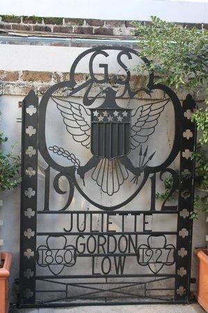 "Juliette Gordon Low's Birthplace: iron gate in ""Daisy's"" garden"