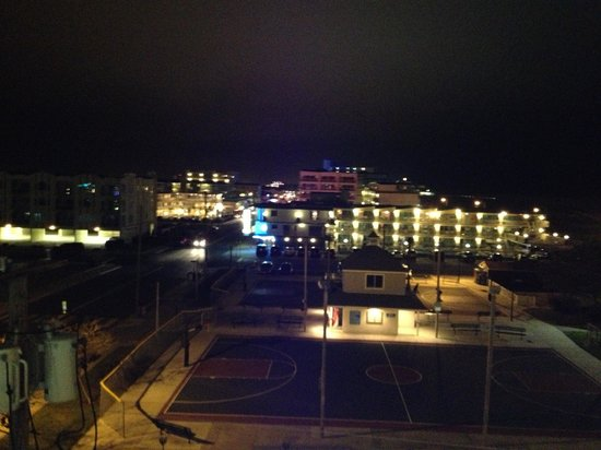 View of ocean picture of pan american hotel wildwood for Balcony night view