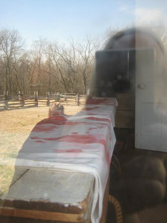 "Pea Ridge National Military Park : ""Bloody sheet"" Elkhorn Tavern"