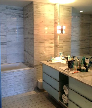 W South Beach: A small part of the huge master bathroom