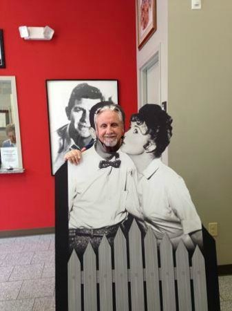 The Andy Griffith Museum: Posing as Barney Fife (Cardboard Replica)