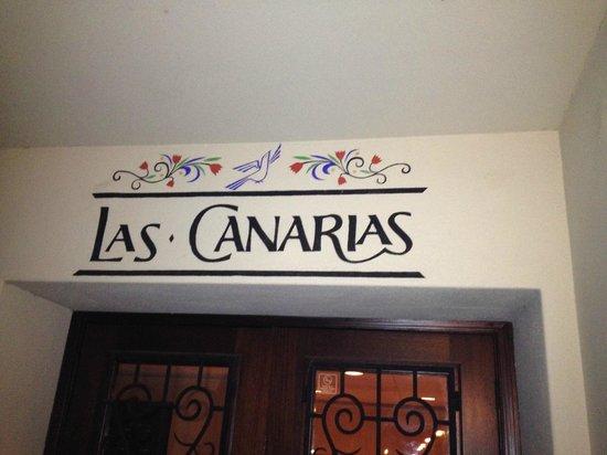 Las Canarias Restaurant : Las Canarias Entrance