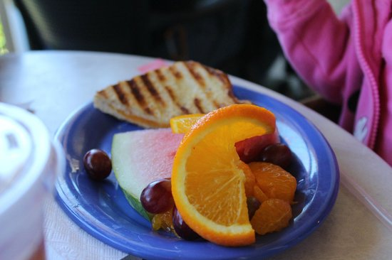 Kojay's Eatery & Coffeehouse: Kids Quesadilla with fruit