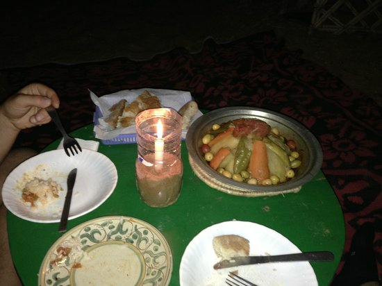 Kasbah Hotel Panorama: cena nel deserto