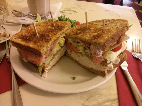‪‪Cafe Ariete‬: The Ariete Club Sandwich - Yum!‬