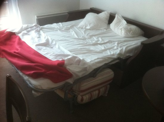 Appart'City Paris Clichy Mairie : pull out couch instead of a regular bed.