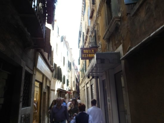 Hotel Astoria -TEMPORARILY CLOSED : The small street outside Hotel..