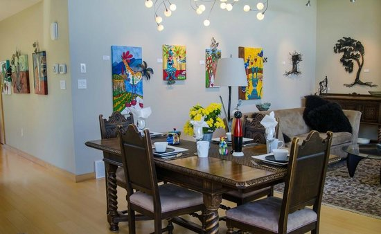 Cormier's Studio: Dining room & art gallery space