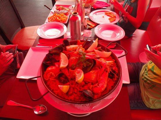 Le Nautilus : Paella pour 2, aussi délicieuse qu' appétissante !!!