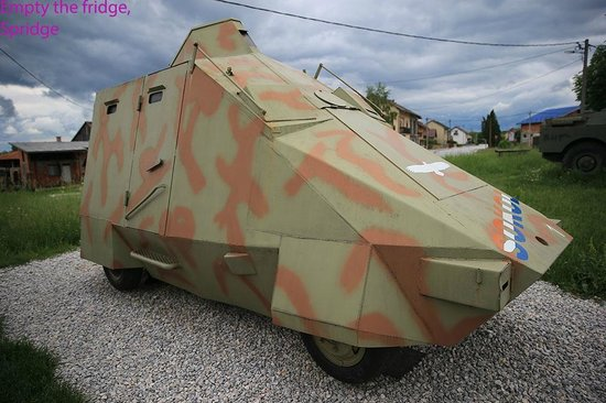 The Museum of Army Collections from the Croatian Homeland War: Not from Dr Who, a real armoured truck