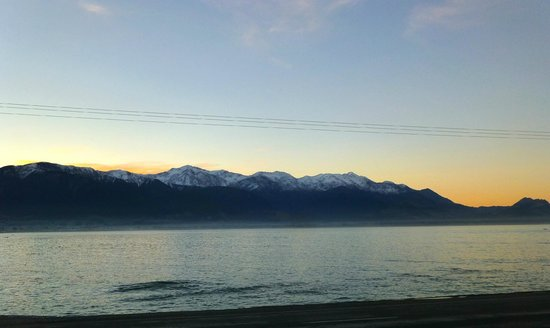 YHA Kaikoura Maui: View from hostel at sunset