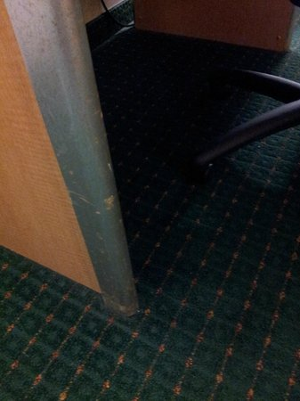 Motel 6 Groton: finish coming off of the furniture